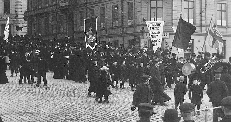 Demonstrationståg 1919.